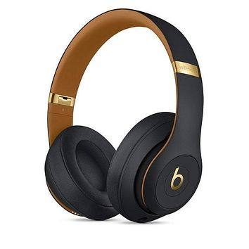 Onewel Black gold Beats Solo 3 Wireless Classic Cool Magic Sound Bluetooth Wireless Hands Headset MP3 Music Headphone with Microphone Line-in Socket TF Card Slot