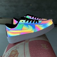 Nike Air Force 1 Chameleon Laser Fashionable Personality Couple Leisure Running Sport Shoes Sneakers