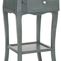 Thelma End Table With Storage Drawer Steel Teal