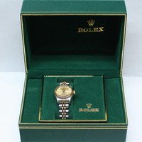 Rolex Ladies Oyster Perpetual Date 18K/SS 69173 Automatic Watch in Box