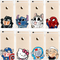 2016 Top Mobile Phone Case And Bags For Iphone 5c 5 6s Plus Back Cover Mini Hello Kitty Spider Man