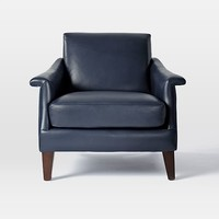 Writer's Leather Club Chair