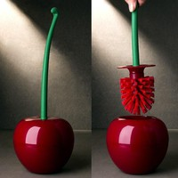 Cherry Shaped Toilet Brush Holder