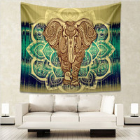 Animal Mandala Print Squared Curtain