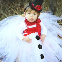Beautiful Snowman Tutu Dress and Snowman Hat for Baby Girl 6-18 Months Old Baby Christmas First Christmas
