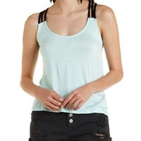 Mint Strappy High-Low Tank Top by Charlotte Russe