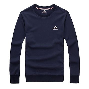 Adidas Women Men Fashion Casual Scoop Neck Long Sleeve Top Sweater