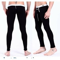 5COLORS New Mens Modal Long Johns Thermal Underwear Sweat Pants free shipping