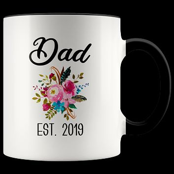 New Dad Mug Expecting Daddy to Be Gifts Baby Shower Gift Pregnancy Announcement Coffee Cup Dad Est 2019