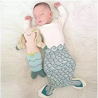 Cotton newborn baby cute mermaid sleeping bags sleeping baby clothes Infant Swaddle kids clothes