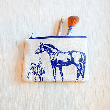 Horse Gift for Women/ Make Up Bag/ Bridesmaid Gift/ Gift for Mom/ Christmas Gift/ Gift for Her/ BFF Gift/ Gift for Girlfriend/ Pouch