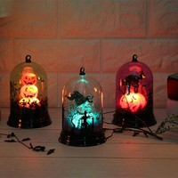 Halloween Party Decoration Pumpkin Light Witch Light Scene Layout Decoration Decorative Night Light For Home