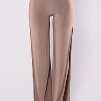 Jacelyn Wide Leg Pants - Mocha