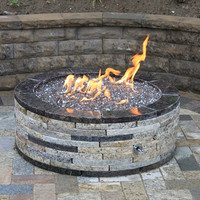 """Do-It-Yourself Ready-to-Finish 54"""" Circular Fire Pit Kit"""