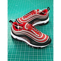 Nike Air Max 97 Red Grey Sport Running Shoes