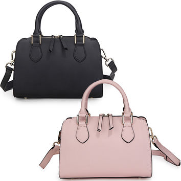 Leather handbag large amount of GXG contracted fashion hand shoulder slope across packages-Color Black
