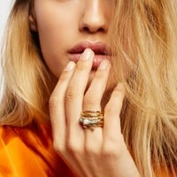 Free People Twisted Raw Stones Ring