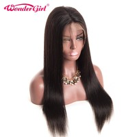 360 Lace Frontal Wigs For Black Women 150% Density Pre Plucked Brazilian Straight Human Hair Wigs Non Remy Hair