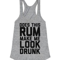 Does This Rum Make Me Look Drunk-Female Athletic Grey T-Shirt