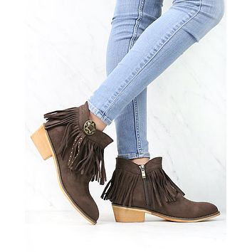Fringe Boho Ankle Booties in More Colors