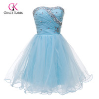 Lovely Beadings Black/White/Pink/Blue Short Homecoming Dresses Cheap Sweetheart Prom Gown Girl's Mini Party Cocktail Dress 4503