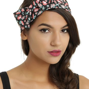 Licensed cool NEW Disney Ariel The Little Mermaid Floral Rose Bow Stretchy Headband Loungefly