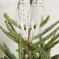 Owl Couplet Tree Topper by Alice Mary Lynch White One Size Holiday