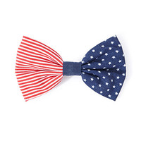 American Flag Bow Barrette