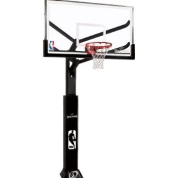 "Spalding 72"" Glass Arena View Series In-Ground Basketball Hoop - Dick's Sporting Goods"
