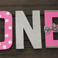 pink and gold first birthday, pink and gold party, birthday numbers, 1st birthday girl, birthday letters, nursery decor, prop number,glitter