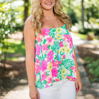 Rainforest Assured Tank, Neon Pink-Green