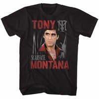 SCARFACE-TONY SCARFACE-BLACK ADULT S/S TSHIRT