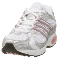 adidas Women's a3 Outrunner Running Shoe, White/Pearl Pink, 10 M