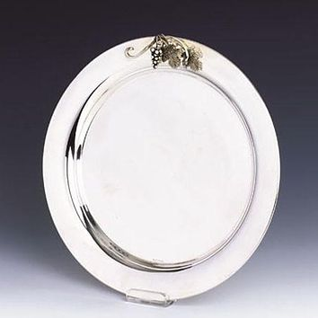 Sterling Silver Round Tray. Passim Collection