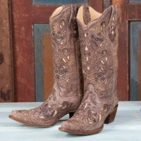 Corral Ladies' Studded Brown Crater Boots - Women's - Boots