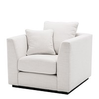 White Upholstered Cube Chair | Eichholtz Taylor