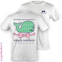 NEW Hot Gift Simply Southern Southern Tie Binds Us Whale Girlie Bright T Shirt