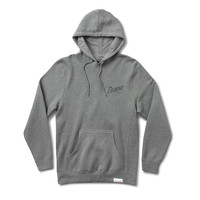 Old Script Pullover Hood in Heather