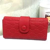 Gucci Women Leather Solid Purse Wallet-2