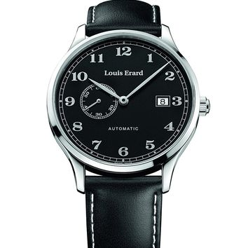 Louis Erard Men's 1931 Collection Black Dial Small Second 66226AA22 Watch