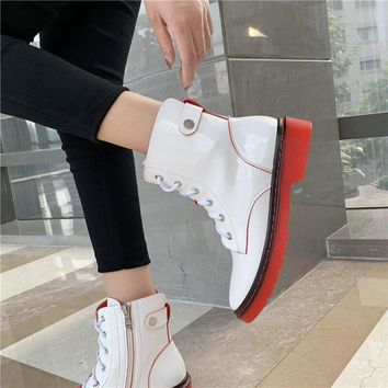 Women Punk Leather Fashion Ankle Boots