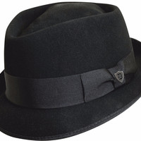 Dorfman Diamond Crown Wool Felt Hat