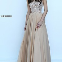 Sherri Hill Long Strapless Prom Dress