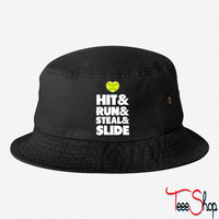 Hit Run Steal Slide bucket hat
