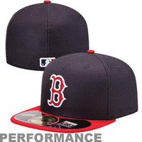 New Era Boston Red Sox Diamond Era  59FIFTY Fitted Hat - Navy Blue/Red