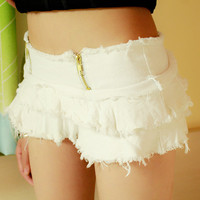 Low Waist Girl Denim Ripped Jeans Shorts