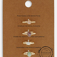 Topshop 'Message' Rings (Set of 4) | Nordstrom