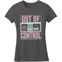 Nintendo  Out Of Control Junior Top Gray