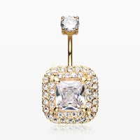 Golden Princess Magnificent Sparkle Belly Button Ring