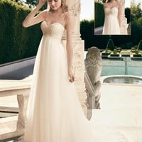 Casablanca Bridal 2172 Empire Waist Tulle Wedding Dress